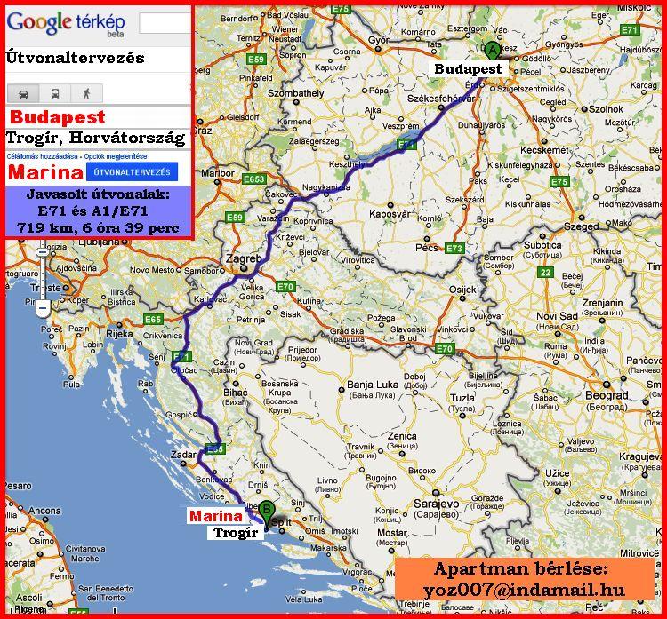 horvátország térkép google HORVÁTORSZÁGI, IGÉNYES VÍZPARTI APARTMAN   Térkép horvátország térkép google
